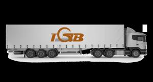 """Transporteurs Barbier, camion illustrant """"notre activité"""""""